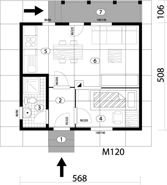 Montažna kuća TIP 30 mapa kuce