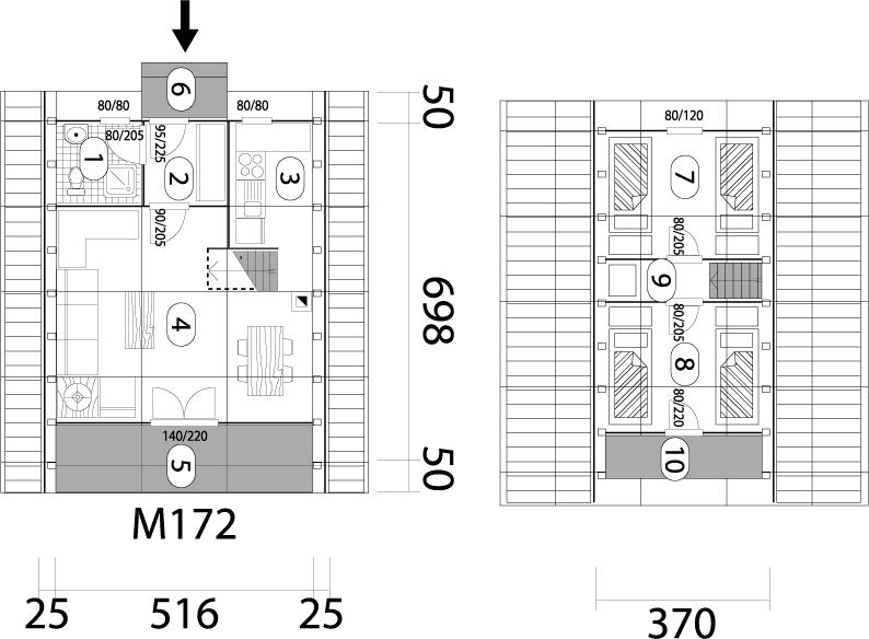 Montažna kuća Golija 40 mapa kuce