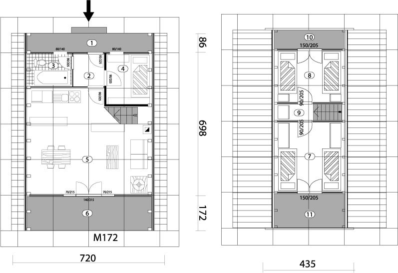 Montažna kuća Golija 64 mapa kuce