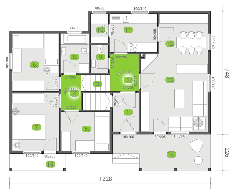 Montažna kuća TIP 101 mapa kuce