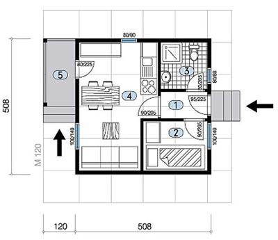 Montažna kuća TIP 27 mapa kuce