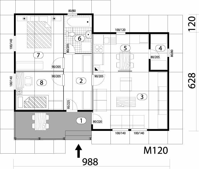 Montažna kuća TIP 66 mapa kuce
