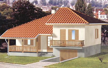 Montažna kuća TIP 86 slika
